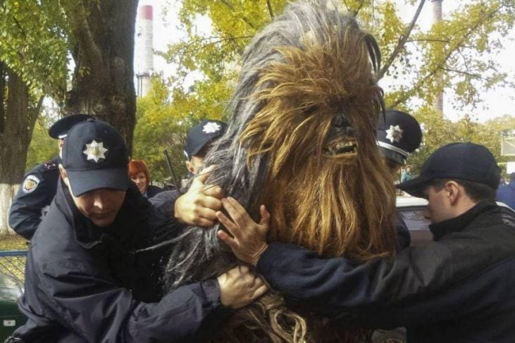 Chewbacca arrestato