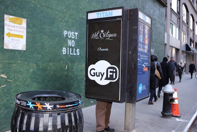 GuyFi, la cabina di masturbazione a New York City