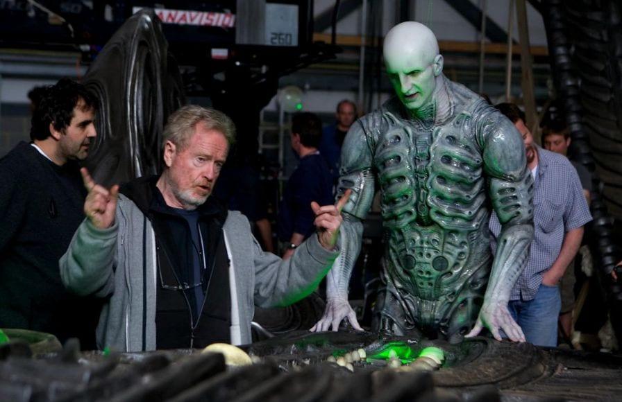 Ridley Scott e un Ingeniere in Prometheus