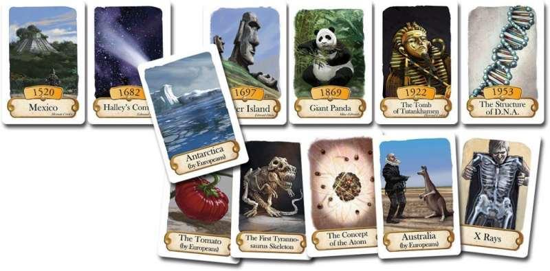 Alcune delle carte presenti nella versione inglese del gioco