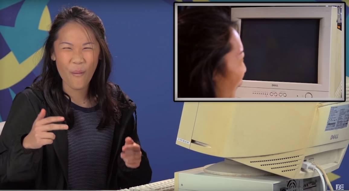Teenagers provano ad usare Windows 95 per la prima volta