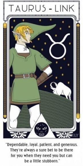personaggi del Nintendo disegnati come segni zodiacali