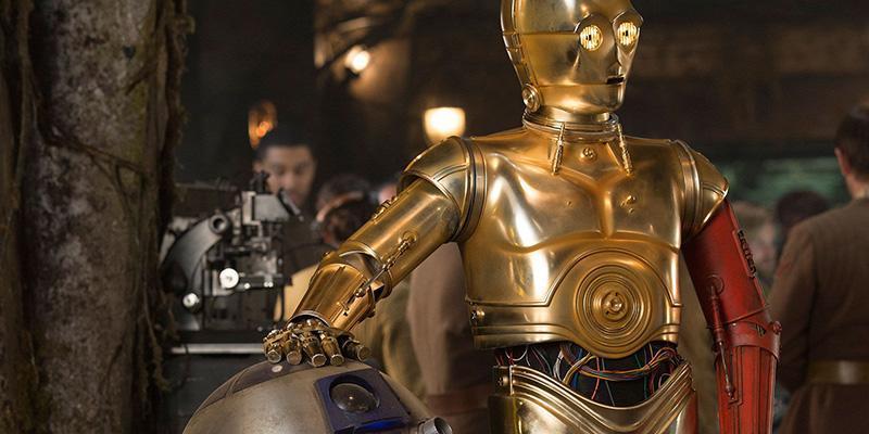 spiegato il braccio rosso di C3PO