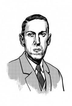 Lovecraft disegnato da Kriek