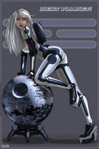 Pin-up nei poster di reclutamento di Star Wars