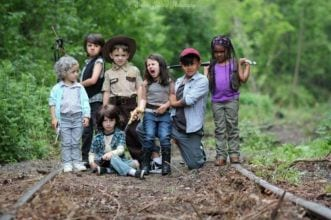 Bambini cosplayer di The Walking Dead