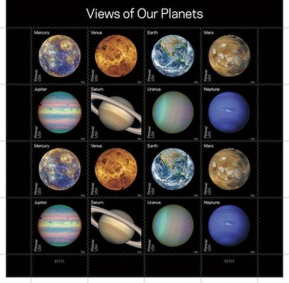 francobolli dei pianeti