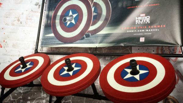 piastre per bilanciere di Capitan America