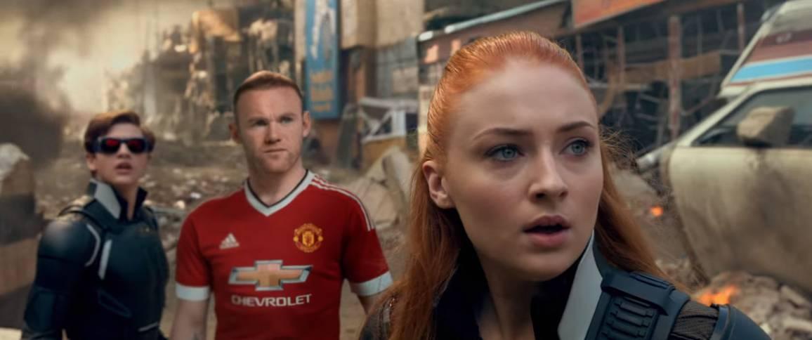 Wayne Rooney in una pubblicità di X-Men