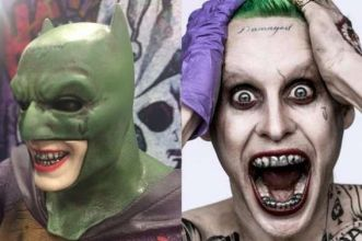 Joker con il costume di Batman