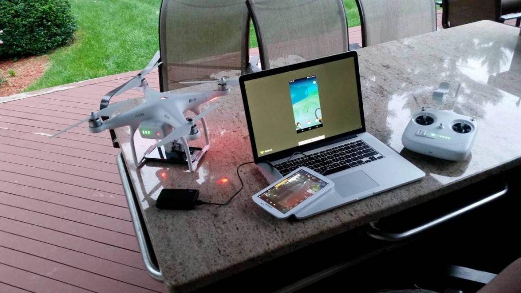 Pokémon GO con un drone