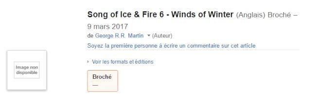 Winds of Winter Amazon Francia