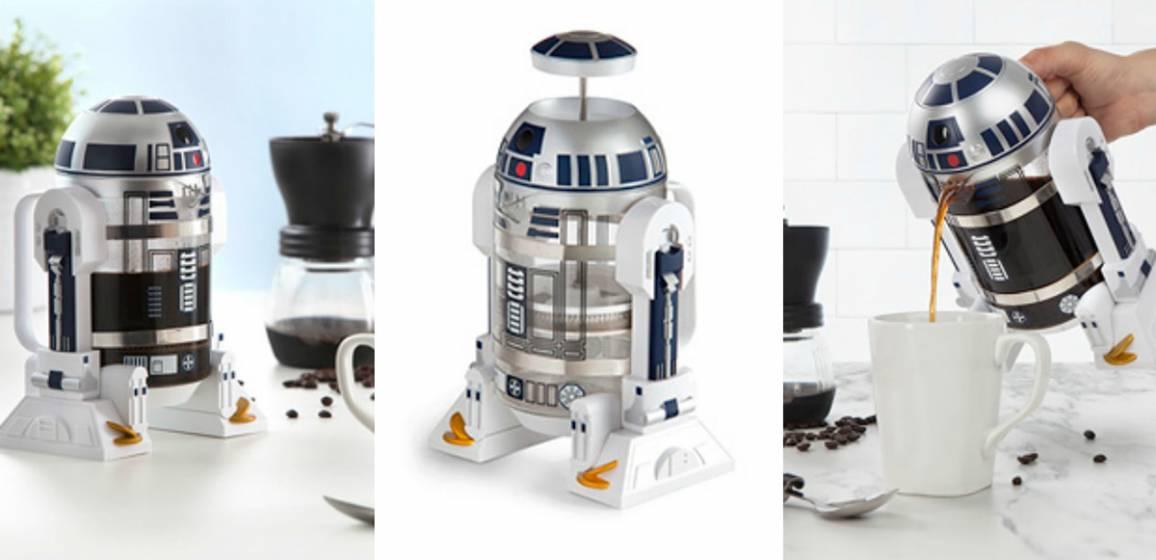 caffettiera a forma di R2-D2