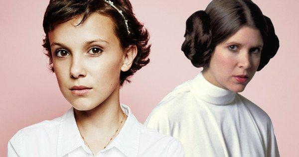 Millie Bobby Brown giovane principessa Leia in Star Wars