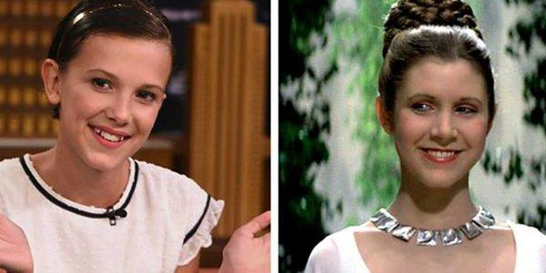 Millie Bobby Brown giovane principessa Leia in Star Wars