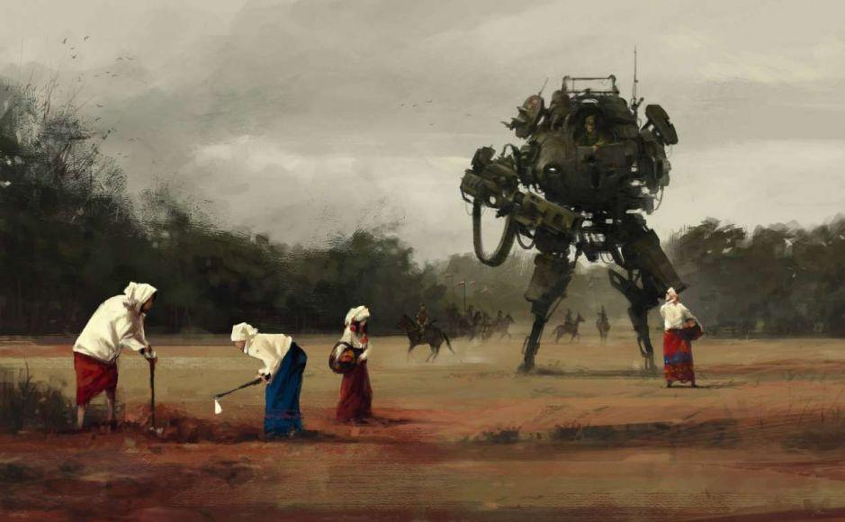Uno dei primi lavori di Jakub Rozalski su 1920+, apparso online nel 2014