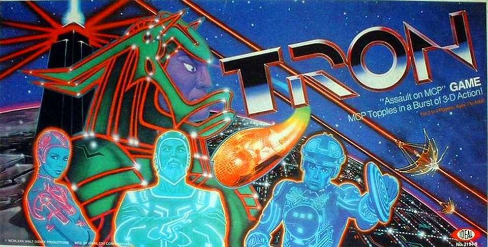 La scatola di Tron Assault on MCP Game
