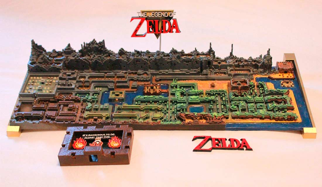 mappa di The Legend of Zelda stampata in 3D