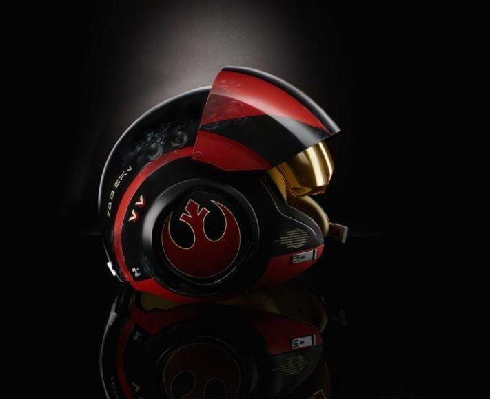 casco da pilota di Poe Dameron