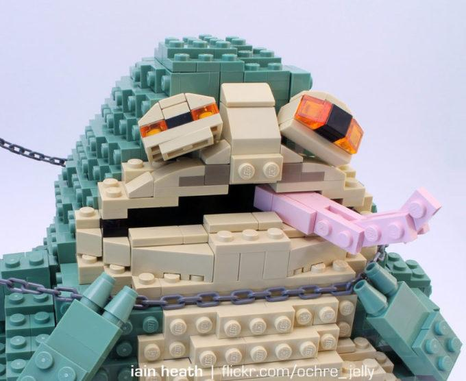 Principessa Leia vs Jabba the Hutt, in versione LEGO!