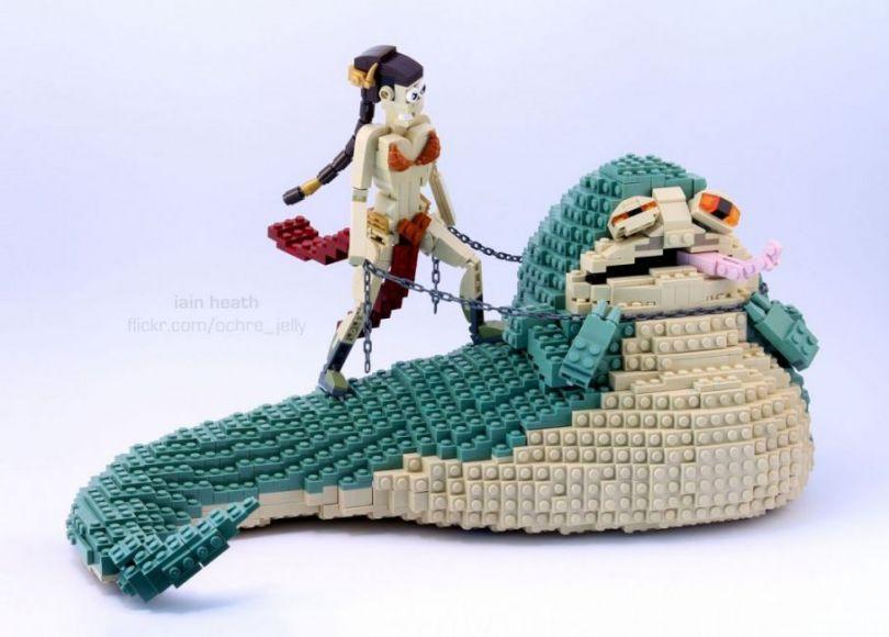 Principessa Leia vs Jabba the Hutt, in versione LEGO!