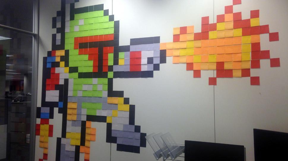Post-it Art: quando un colorato Boba Fett rende unico il tuo ufficio!