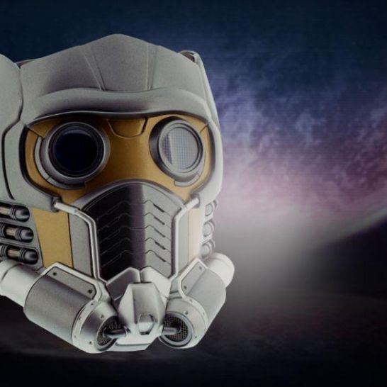 replica del casco di Star Lord di Guardiani della Galassia