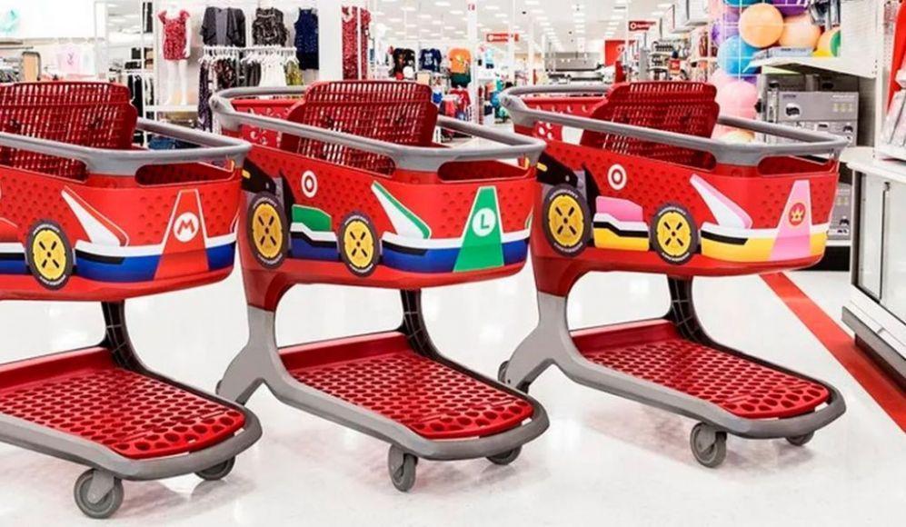 Mario Kart 8 Deluxe carrelli spesa