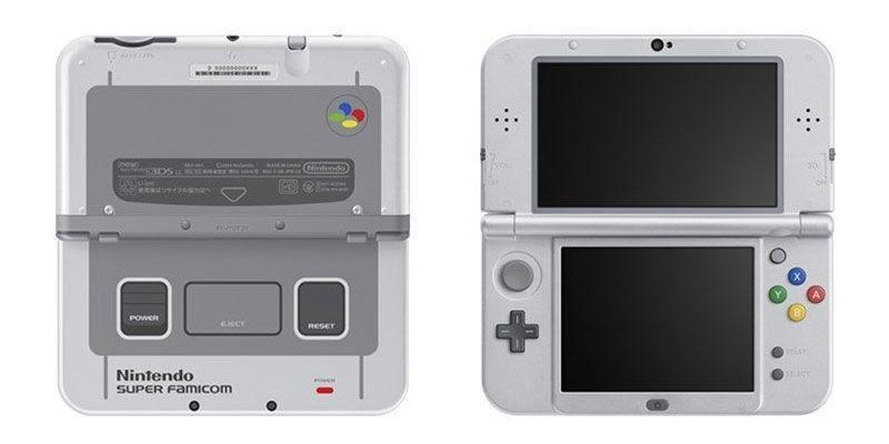 3DS XL a tema SNES