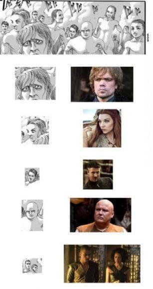 cameo dei personaggi di Game of Thrones