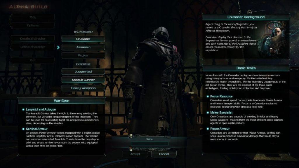 warhammer 40k inquisitor martyr creazione pg