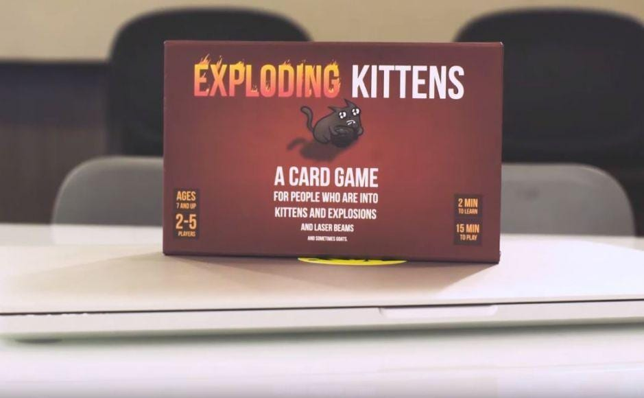 Exploding Kittens Crowdfunding