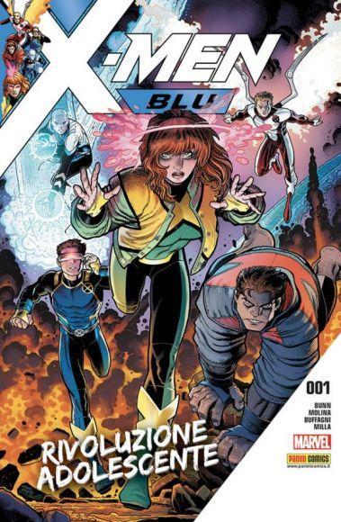 x-men blu copertina