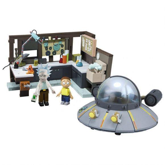 il set di costruzioni del laboratorio di Rick