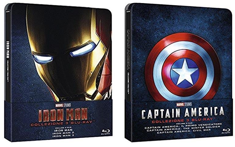 Steelbook Blu-ray trilogie Iron Man e Captain America