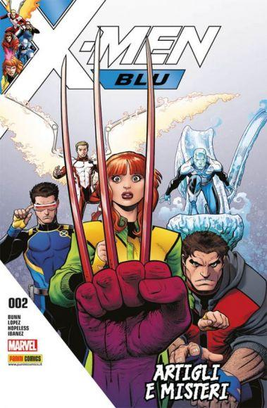 x-men blu 2 copertina