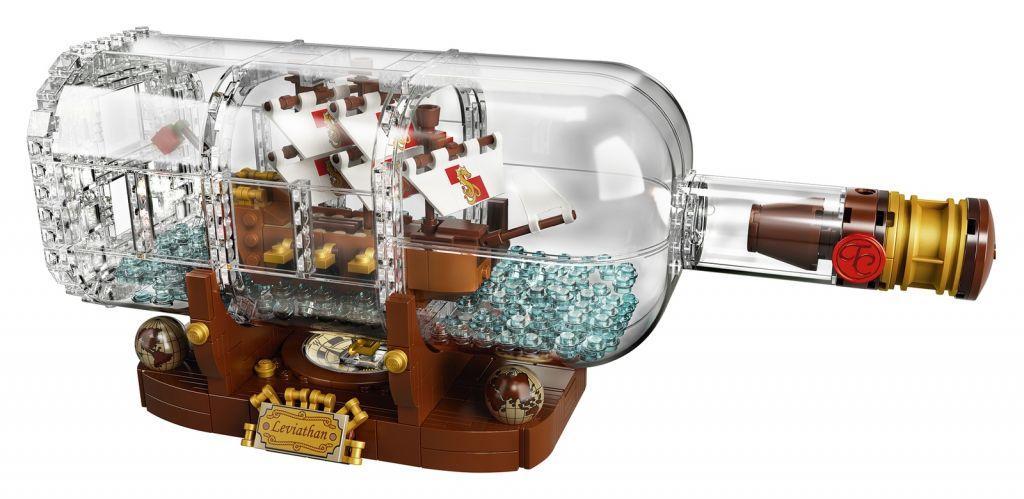 nave in bottiglia lego