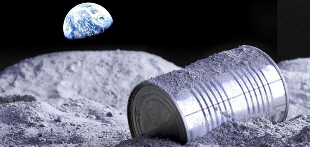 spazzatura sulla Luna