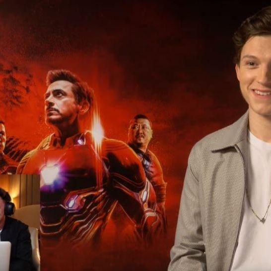 Tom Holland scherzo Avengers