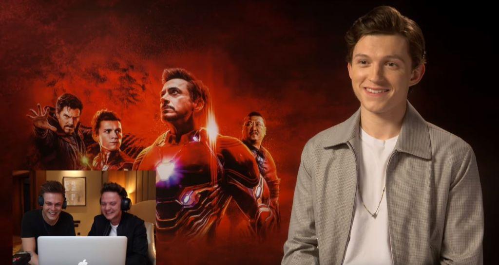 Tom Holland scherzo Avengers