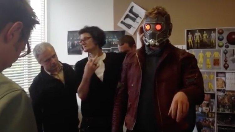 Chris Pratt ha indossato la maschera di Star Lord