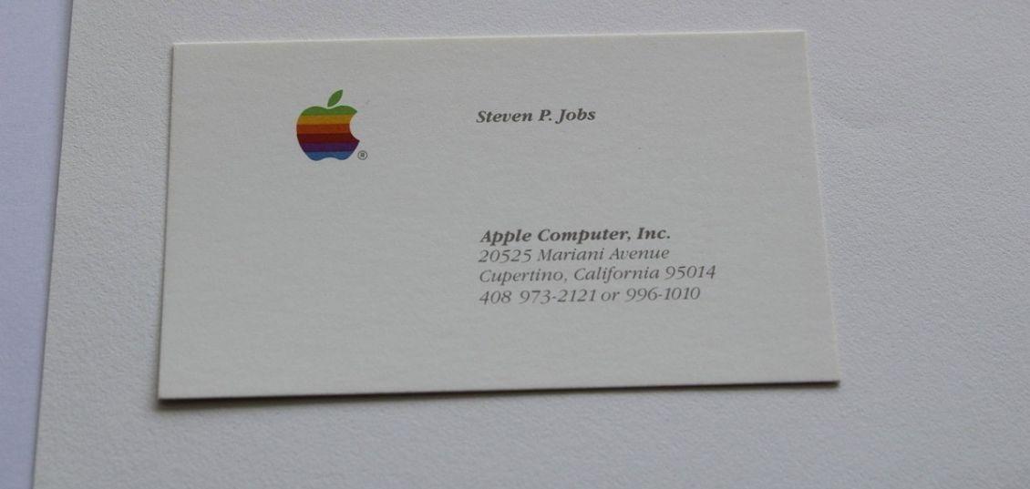 biglietto da visita originale di Steve Jobs