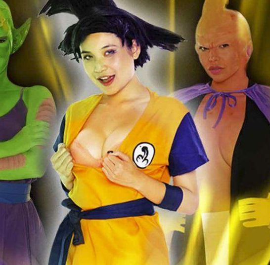 dragon boob z parodia porno di Dragon Ball Z