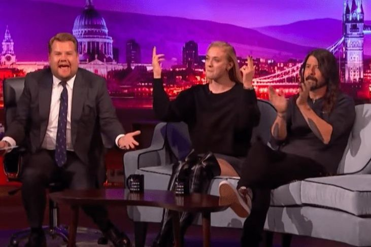 Sophie Turner James Corden Rap