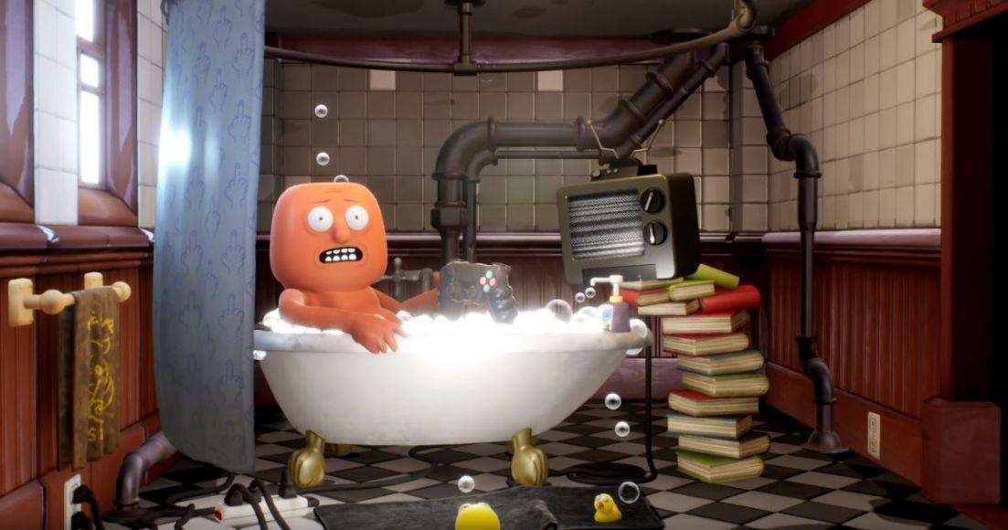 Tizio in una vasca Trover Saves the universe