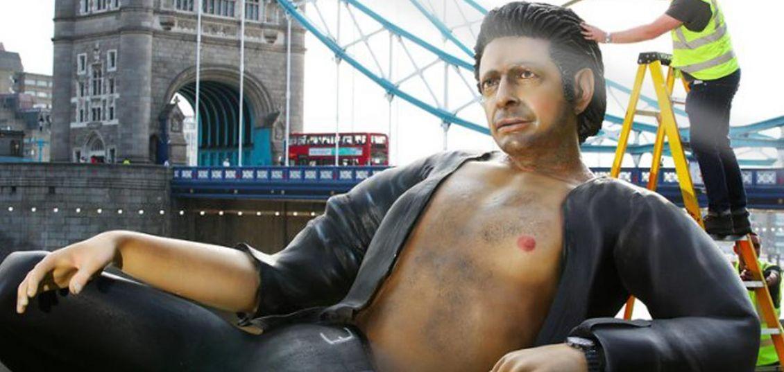 statua di Jeff Goldblum