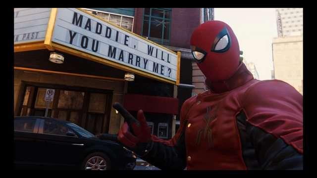 proposta di matrimonio in Marvel's Spider-Man