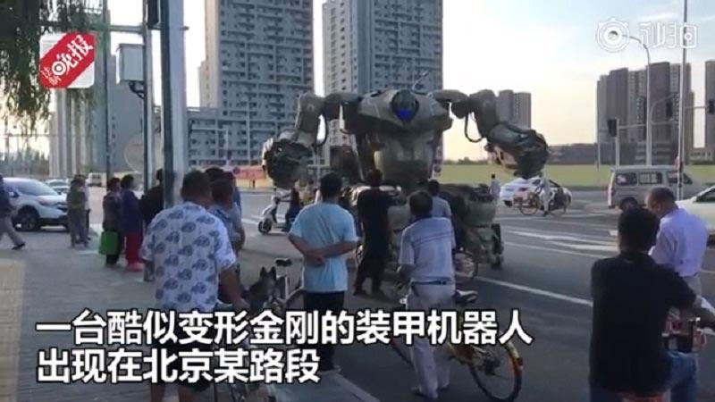 robot trasformabile su ruote Pechino
