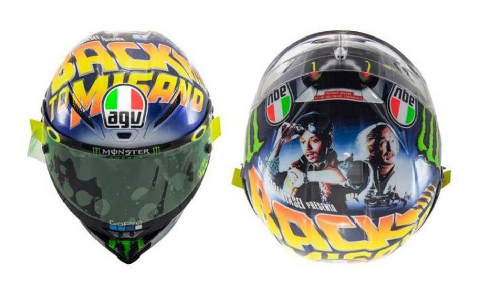 nuovo casco di Valentino Rossi