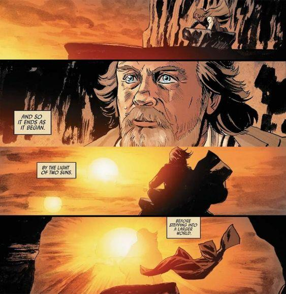fumetto de gli ultimi jedi morte luke skywalker